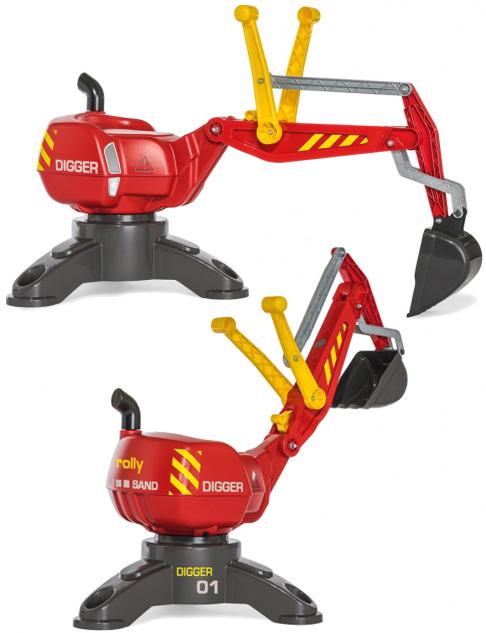 誠実 子供用乗用玩具 DIGGER ショベルカー車輪を取り除いて安定を求めすくう面白さに特化した固定型掬うをハンドル操作で楽しめるディガーロリートイズ 子供用乗用玩具 TOYS レッド×グレー軽量ですので持ち運びにも便利ドイツ製おもちゃ ライドオンRIDE ON TOYS RED DIGGER, レースレディース:fbb2b804 --- zhungdratshang.org