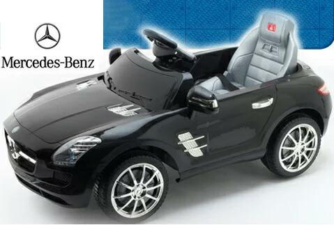 実車の約1/3スケール 乗って運転したり&プロポ操作など遊び方色々ラジコンと電動乗用カーが合体 電動乗用ラジコンカーメルセデスベンツ 正規ライセンス商品 ブラック レッドお子様へのプレゼントにオススメ!Mercedes Benz AMG SLS