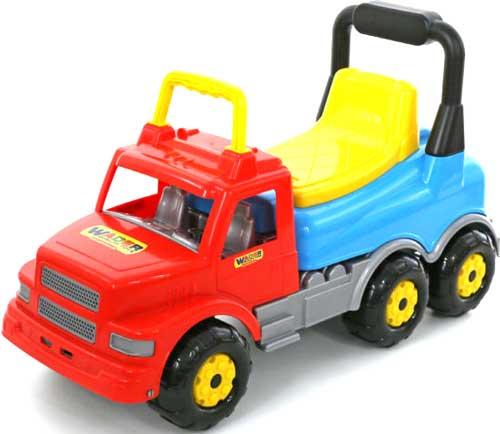 マルチカラーダンプトラック乗用玩具 6輪ダンプカー地面を蹴って進むオモチャMaxiTruck 乗用トラックライトブルー×イエロー×レッド誕生日プレゼントやお孫さんへの贈り物に大人気捕まり立ち車 キックカー後部に物が入ります
