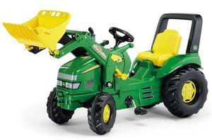 ロリートイズ ジョンディア トラックローダー x-track最も迫力のあるペダル式タイプカラーデザインも魅力!グリーン×イエロー ブルドーザードイツ製おもちゃ 子供用玩具 ペダルカーrolly toys JOHN DEERE truck roader x-truck