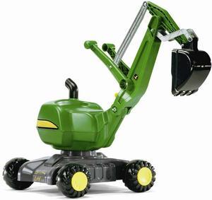 ロリートイズ ジョンディア ディガー足蹴りタイプのショベルカー。軽量ですので持ち運びにも便利!ドイツ製おもちゃ 子供用玩具 ライドオンrolly toys digger JOHN DEERE mini