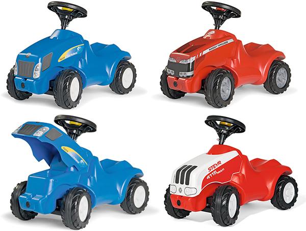 ドイツ製おもちゃ 足けり乗用カーブルー グレー レッドロリートイズ ニューホランドミニ マーシミニ ニューホランドミニ ステアミニトラクター 人気のローリーキッズシリーズ!子供用玩 rolly toys mini 足蹴り キックカー ライドオン