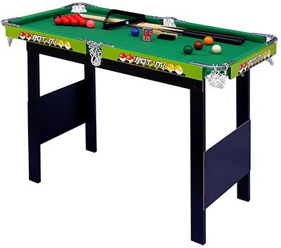 パーティー&イベントに大活躍 テーブルゲーム ビリーヤードテーブルセット グリーン狭いスペースでも楽しめる スタンディングビリヤード台キューや球も揃て直ぐ遊べる軽くて片付けも楽々!小さく収納キューやラックも揃って直ぐ楽しめます!