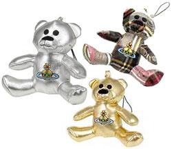 薇薇恩 · 韦斯特伍德手机吊带薇薇恩 · 韦斯特伍德 ORB 绣的泰迪熊毛绒魅力熊展展览会银金银色破产管理署 4376 ECOPELL 白色棕色