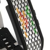 未来系LED腕時計 アルミケース メンズウォッチピボット ステンレスバーに穴が開いてて、そこからもれる光で時間を表示ステンレスボディブラック×マルチカラーLED