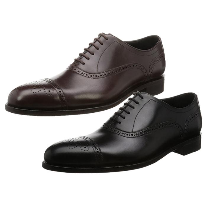 【セール SALE!!】「神匠(シンショウ)」LS-02 本革 レザーソール ドレスシューズ ビジネスシューズ セミブローグ 紳士靴 メンズ
