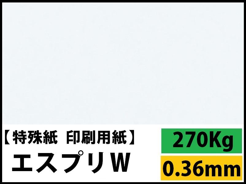【特殊紙】エスプリW 270kg(0.36mm) A3 100枚【両面キャストコート ツルツル】
