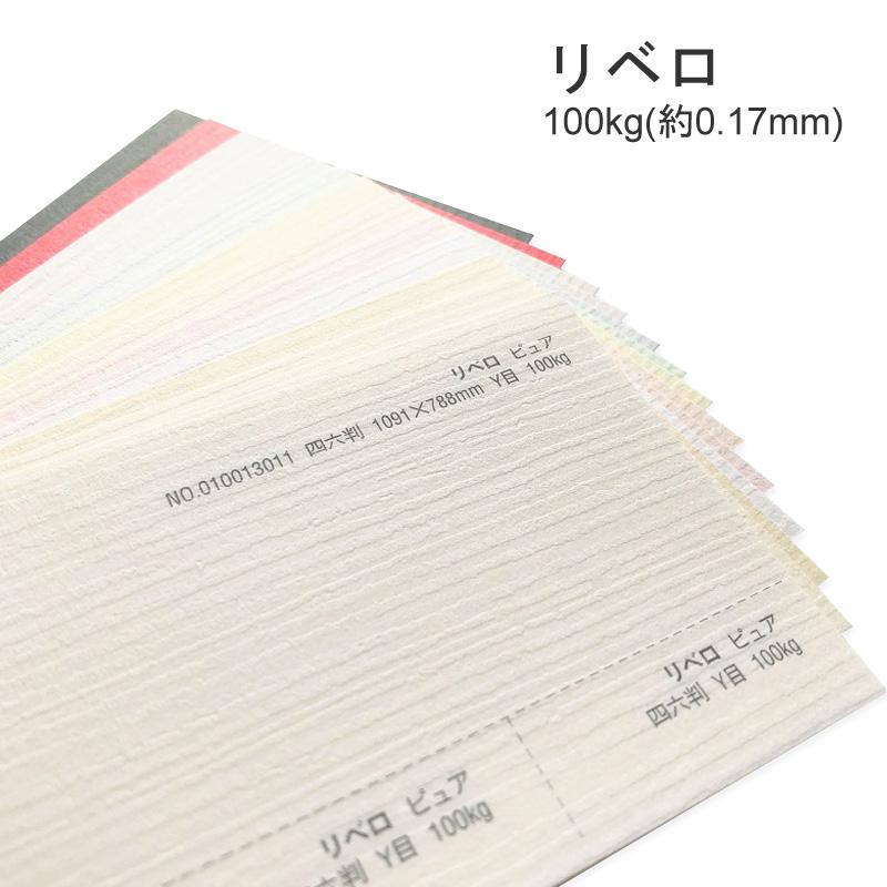 【特殊紙】リベロ 100kg(0.17mm) A3 100枚選べる11色【ファンシーペーパー 印刷用紙 ライン模様 エンボス パステル調】