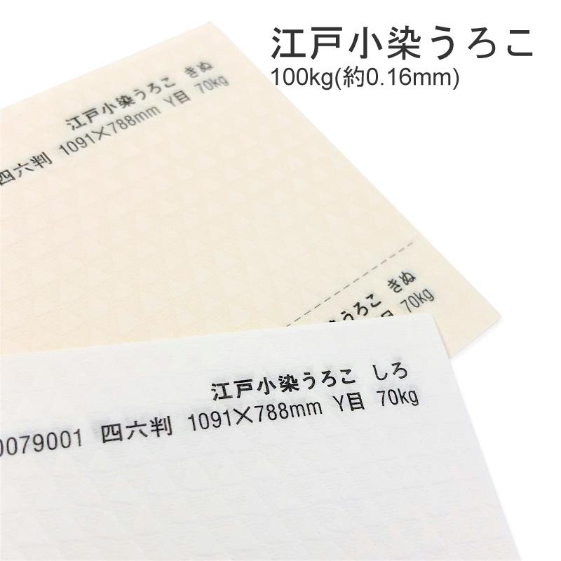 【特殊紙】江戸小染うろこ 100kg(0.16mm) A3 100枚選べる2色【ファンシーペーパー 印刷用紙 型押し模様 エンボス 和風 ペーパークラフト 凹凸】