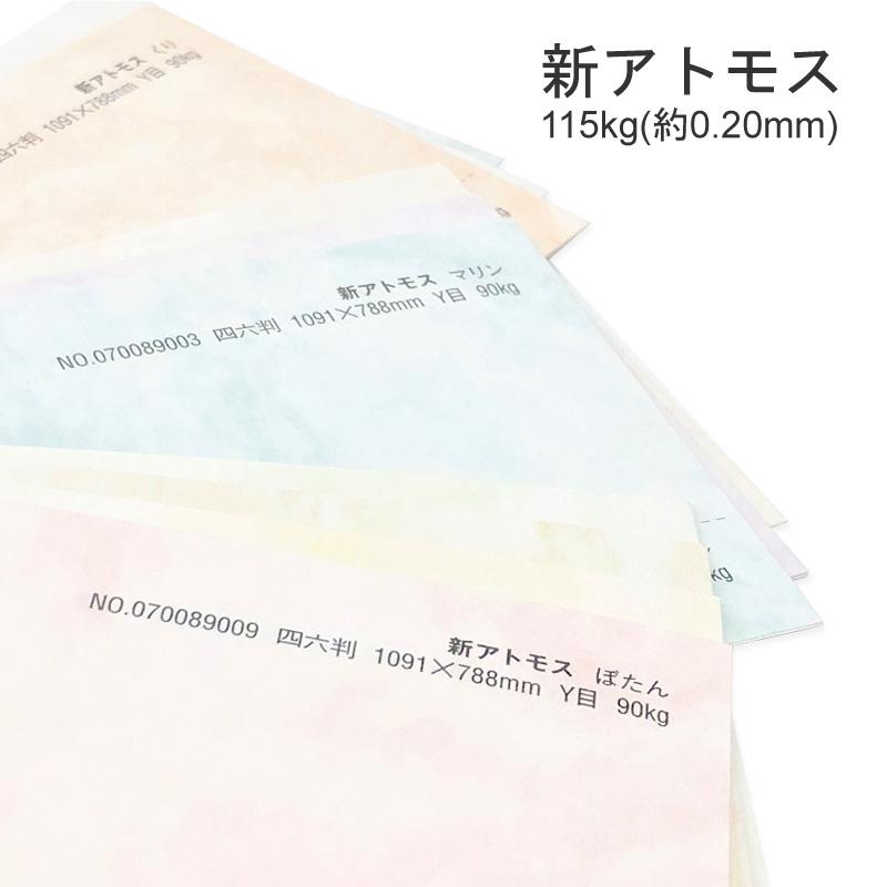 新アトモス 115kg B5 100枚もやもやとした雲模様が印象的 特殊紙 0.20mm お求めやすく価格改定 ラフ肌 印刷用紙 大放出セール 100枚選べる10色 もやもや柄 ファンシーペーパー
