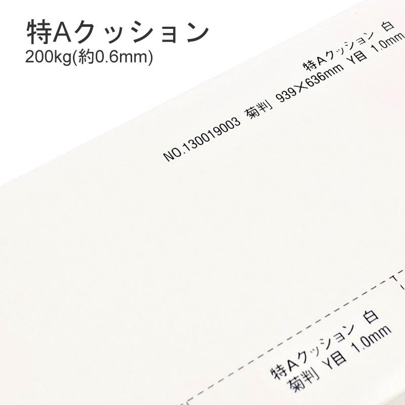 特Aクッション 200kgしっかりした紙腰とボリューム感 特殊紙 メーカー直売 200kg 印刷用紙 0.6mm ファンシーペーパー アウトレット