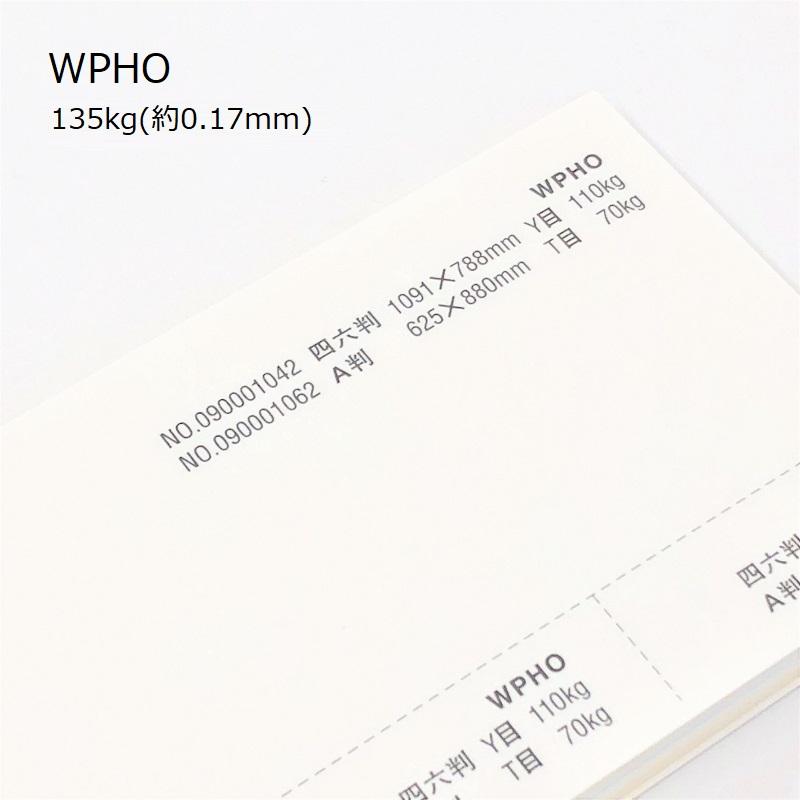 【特殊紙】WPHO 135kg(0.17mm) A3 100枚【インクジェット用紙 レーザープリンター用紙 紙飛行機制作 ケント肌】