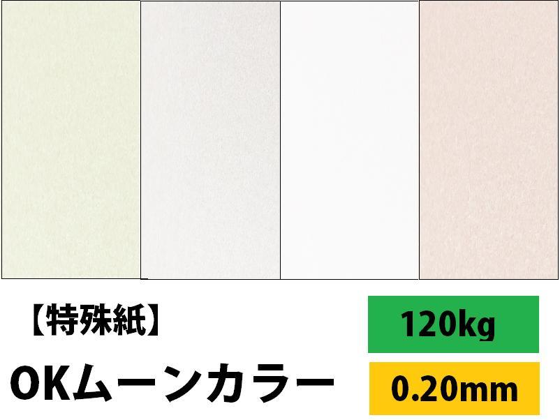 【特殊紙】OKムーンカラー 120kg(0.20mm) A3 100枚【ファンシーペーパー 印刷用紙 パール加工 ホットスタンプ OKフロート キラキラ メタリックペーパー】