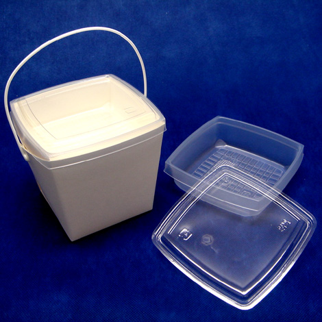 【手提げ紐つき2段式お弁当容器】ペールボックスTY-70(業務用240セット)