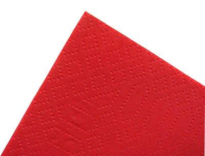 【ディナーナプキン】8ツ折カラー2PLYナプキン レッド 2000枚(50枚×40袋)【国産】
