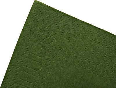 【ディナーナプキン】8ツ折カラー2PLYナプキン フォレストグリーン 2000枚(50枚×40袋)【国産】