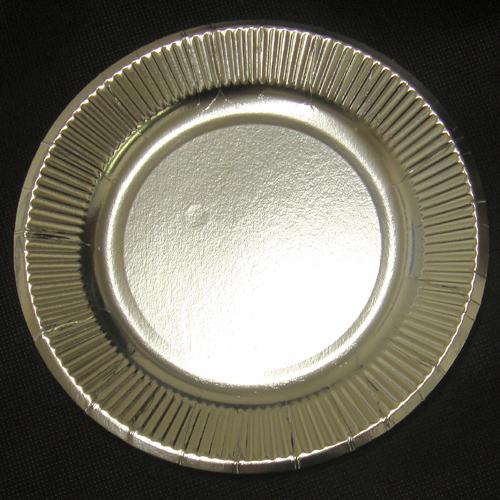 【箱買い】紙皿シルバー6号(15cm)2400枚 【送料無料】 おしゃれな使い捨て紙皿