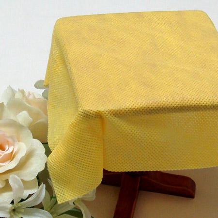 【箱】不織布テーブルクロス100cm角(100枚)イエロー【送料無料】