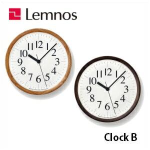 【4/30までポイント5倍】Lemnos レムノス ClockB YK14-06NT/YK14-06BK 掛け時計 シンプル 木枠