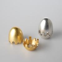 【7/31までポイント5倍】能作 香の器 - egg - 真鍮 バレルゴールド503051 バレルシルバー503052