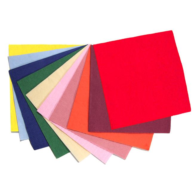 ■コースターとしても使えます ■ カラー4つ折ペーパーナプキン お値打ち価格で 24cm2プライ☆100枚入り 高級