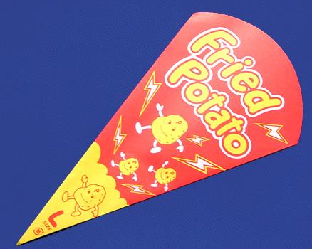 三角袋フライドポテトL☆3,000枚入り☆