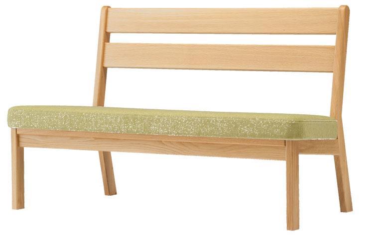 旭川高級家具【純国産高級家具 パレットシリーズ ソリッドソファ 2P】 木の手触りが気持ちいい!無垢板の背もたれが特徴的なゆったり広めの二人掛けソファです♪