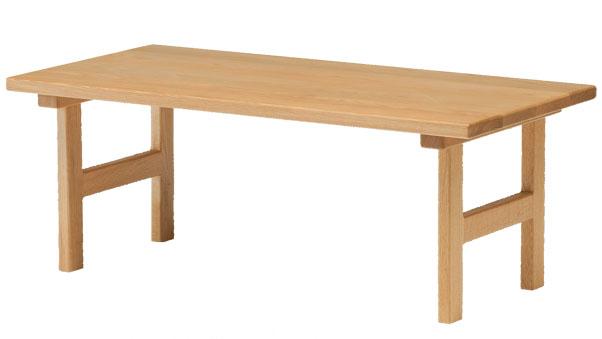旭川高級家具【 純国産家具 パレットシリーズ センターテーブル 幅100cm】木の手触りが気持ちいい、小ぶりなサイズのリビングセンターテーブル