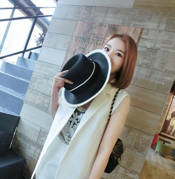 レディース麦わら帽子 2色 メーカー直売 ファッションハット 25%OFF UV対策 リボン付き 日よけ つば広帽子