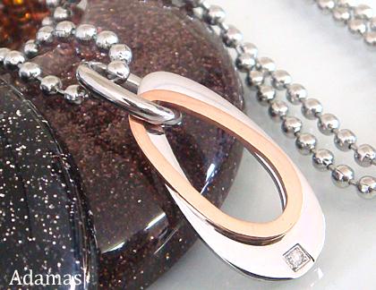 与え SteelAdamasアダマスステンレスダイヤモンドネックレス ピンクゴールド 誕生日 お祝い