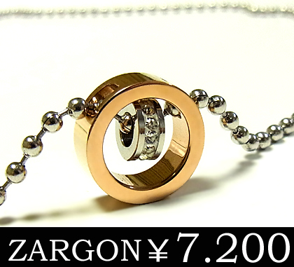 ZARGONザルゴンダイヤモンドCZステンレスネックレス 初回限定 ピンクゴールド ステンレスアクセサリー お買い得