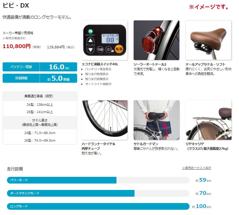 パナソニックビビ・DXBE-ELD635R2レッドジンジャー26インチ16A2019電動アシスト自転車完成車【新商品ページ作成中誤表記あったらすみません】