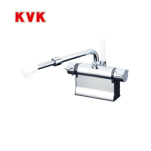 【最大2000円クーポン有】[KF3011TSJ]KVK 浴室水栓 シャワー水栓 サーモスタットシャワー金具 デッキ形(台付き) 伸縮自在パイプ付(220mm~350mm) 快適節水シャワー 逆止弁 可変ピッチ式 取付穴径(mm):φ22~φ24 蛇口 【送料無料】 デッキタイプ おしゃれ