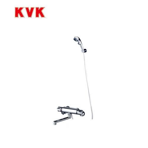 [KF800TES]KVK 浴室水栓 サーモスタット式シャワー 壁付タイプ 3wayワンストップ仕様 eシャワー 【送料無料】