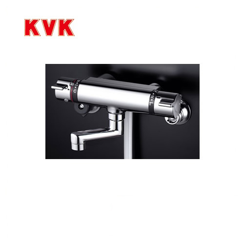[KF800TN]KVK 浴室水栓 シャワー水栓 サーモスタットシャワー金具(壁付きタイプ) 80mmパイプ付 洗い場専用水栓 逆止弁 蛇口 【送料無料】 壁付タイプ