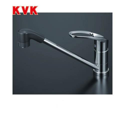 [KM5011TF]KVK キッチン水栓 流し台用シングルレバー式シャワー付混合栓 ワンホールタイプ 【送料無料】 おしゃれ