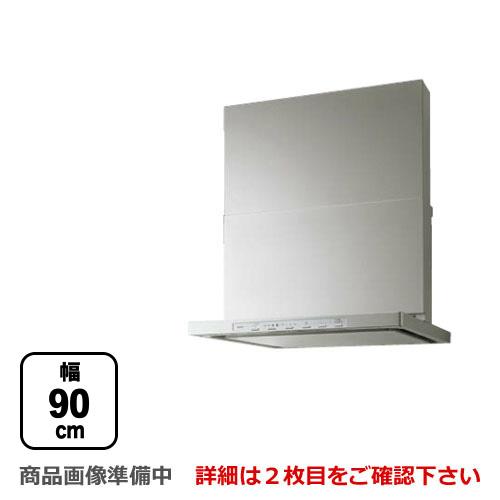[NFG9S14MST-L] ノーリツ レンジフード Curara クララ シロッコファン 間口900mm スリム型ノンフィルター コンロ連動タイプ ダクト位置左 ステンレス スライド前幕板付属 スライド横幕板別売 【送料無料】