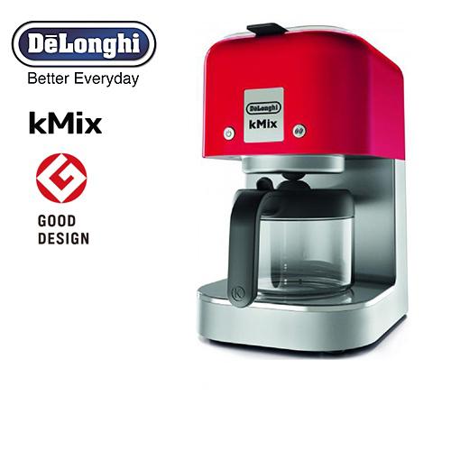 [COX750J-RD] デロンギ コーヒーメーカー kMix ケーミックス ドリップコーヒーメーカー 抽出杯数:1~6杯 (125mL×6杯) ステンレスフィルター スパイシーレッド 【送料無料】