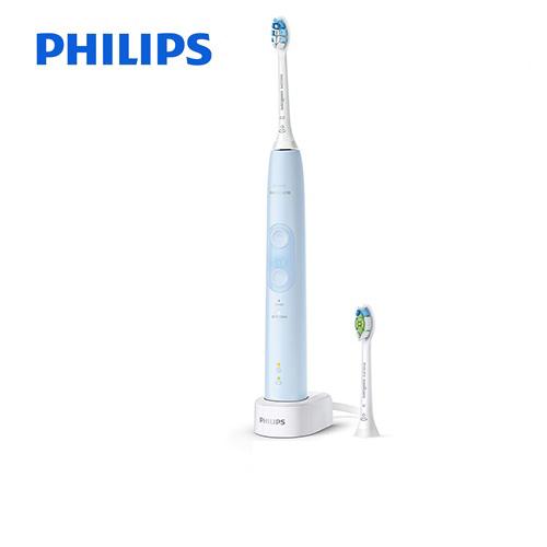 [HX6453-68] フィリップス 電動歯ブラシ Sonicare ProtectClean ソニッケアープロテクトクリーン<プラス> 充電式電動歯ブラシ 過圧防止センサー 2つのモード ライトブルー 【送料無料】