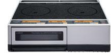 【送料無料】 【パナソニック】[KZ-KB21D]IHクッキングヒーター IHヒーター パナソニック据置タイプ 2口IH+グリル 鉄・ステンレス対応 ブラックー/シルバー