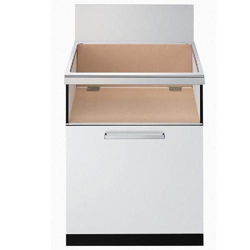 [NLA6022W]スライド収納庫 1段スライド ホワイト ノーリツ キャビネット※ガスコンロ本体をご購入のお客様のみの販売となります