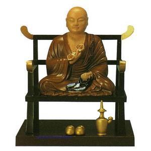 373-02仏像 弘法大師(座像) 合金製