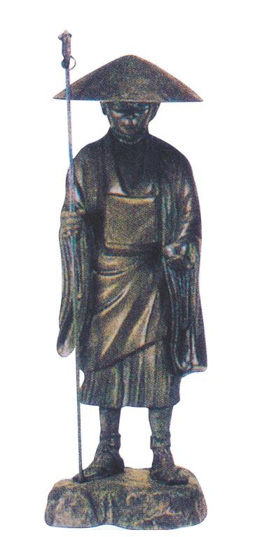 仏像 弘法大師 青銅製 2尺