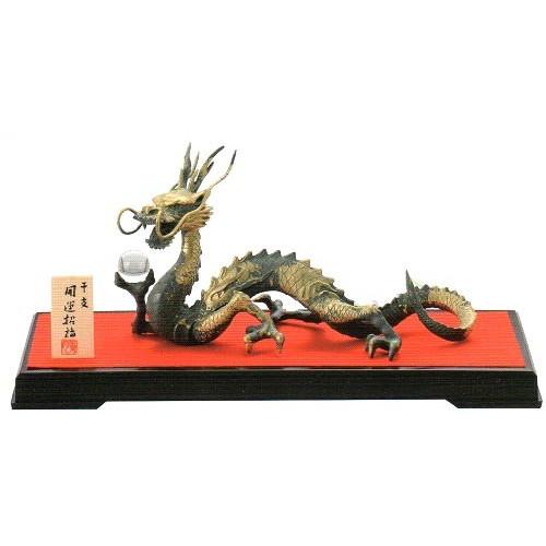 24-03 風水青龍 龍の置物 竜の置物