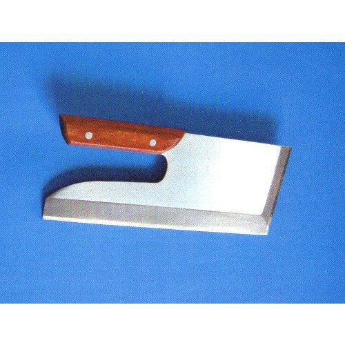 宝馬 ステンそば切包丁 合板柄付 全長304mm 刃渡304mm 重量611g