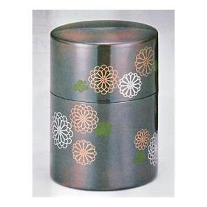 低価格化 茶道 茶器 銅製のお洒落な茶筒 茶筒 o128-03茶道具 菊華 割り引き