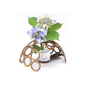 【送料無料】o42-07華道具 花の器 輪(山吹) 青銅製