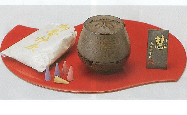 トレンド 今すぐ使える 高岡伝統工芸品 香炉とお香のお得なセット☆暮らしに癒しのインテリア 49-02香炉 慧 けい お香と香炉 香セット 新作からSALEアイテム等お得な商品満載