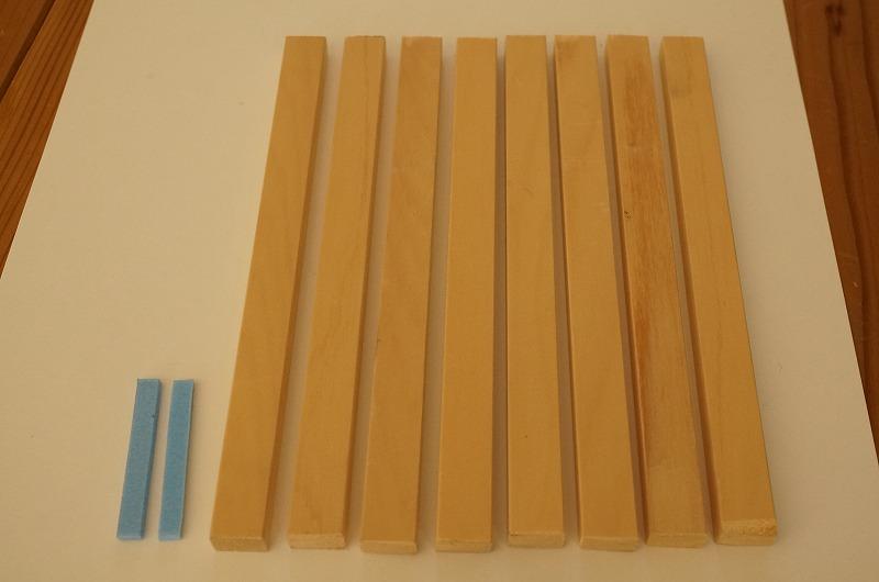 卓出 壁埋め込み用の押縁 すきま調整材セット ステンドグラス取付け用押縁 ヒバ材 現場に合わせてサイズカット 単独注文不可 蔵 無塗装