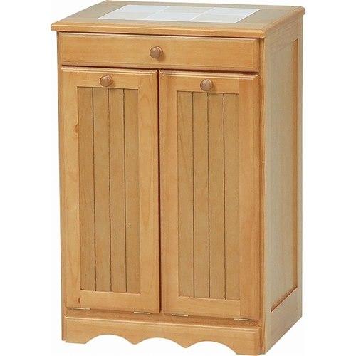 ダストボックス キッチン ゴミ箱 ダストBOX ナチュラル ごみ箱 ストッカー キャスター付きダストボックス[送料無料]